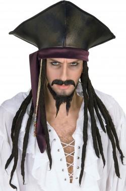 Cappello di Jack Sparrow Pirati dei Caraibi con trecce