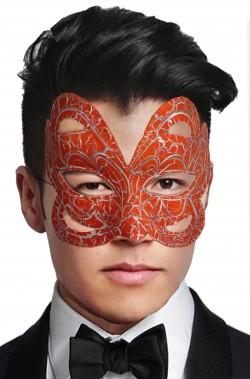 Maschera di carnevale arancione avvolgente
