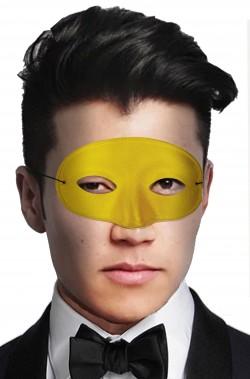 Maschera di carnevale da viso economica gialla