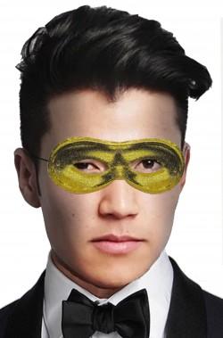 Maschera di carnevale oro metallizzata economica