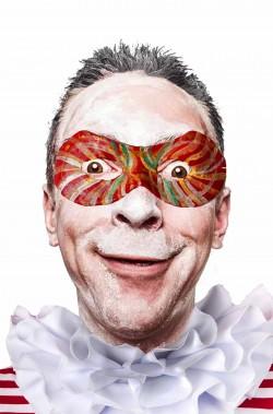 Maschera del carnevale di viareggio di cartapesta