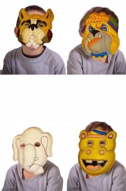 Assortimento maschere di carnevale economiche animali per bambini