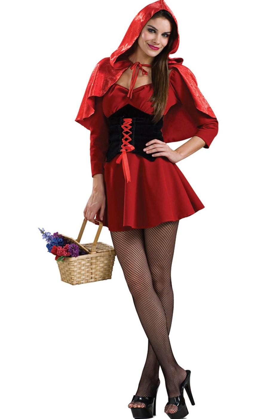 Vestito cappuccetto rosso sexy donna
