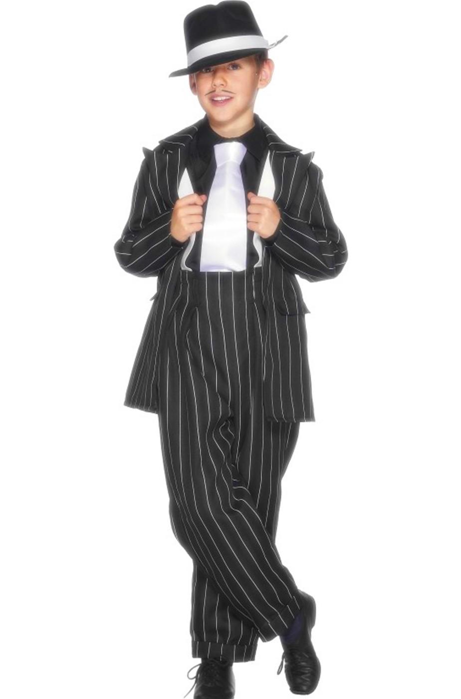 Vestito di carnevale bambino gangster anni 20 Al Capone