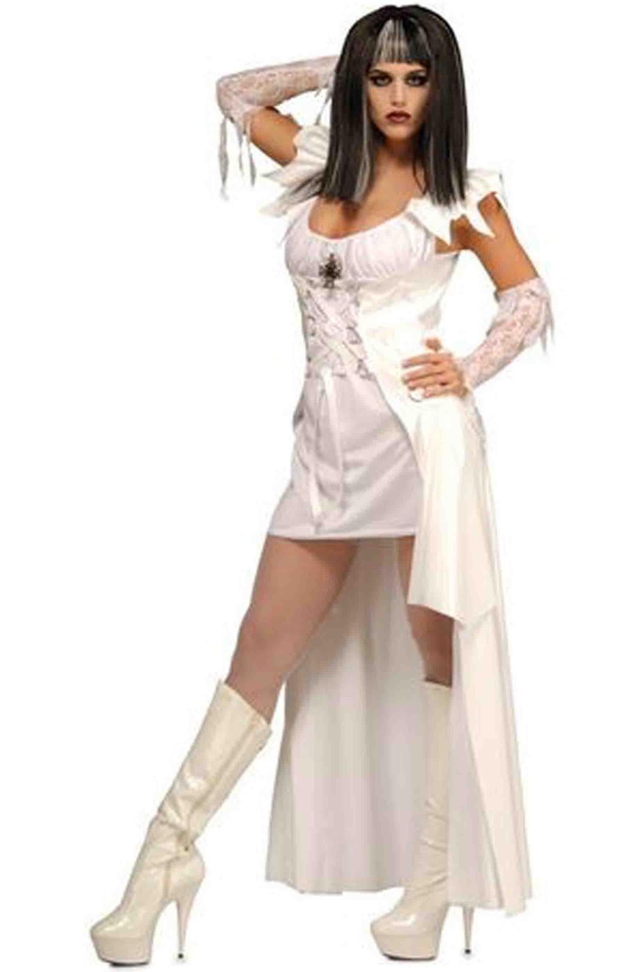 Vestito Halloween donna bianco vampira fantasma