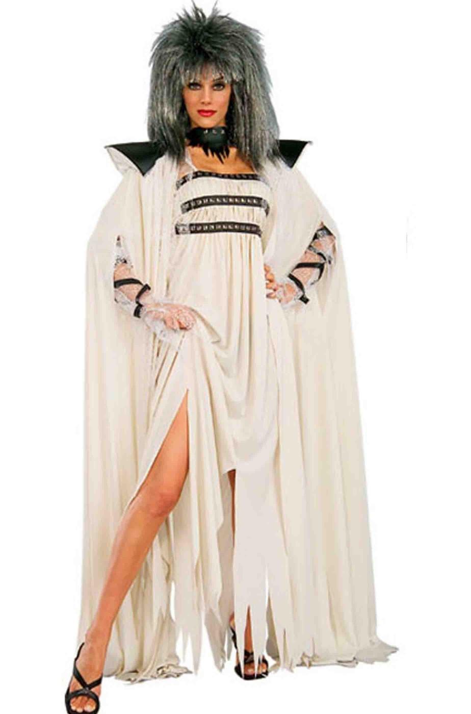 Vestito Halloween donna Sacerdotessa bianca lungo