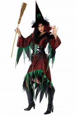 Vestito Halloween donna strega elfa dei boschi