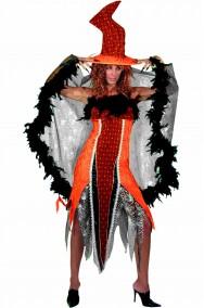 Vestito Halloween donna strega arancio bellissima