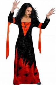 Vestito Halloween donna strega dei ragni lungo e comodo