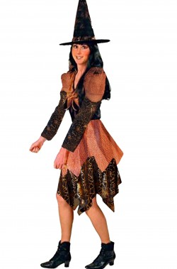 Vestito Halloween da strega Ramata donna adulta