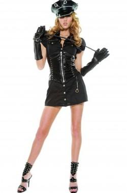 Vestito da dominatrice poliziotta donna
