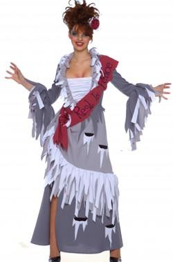 Vestito di Halloween donna Miss Morta lungo