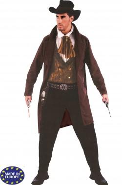 Vestito di carnevale uomo cowboy adulto gambler
