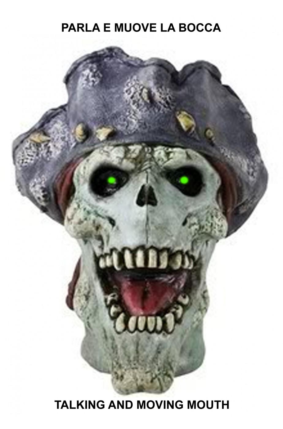 Immagini Di Teschio Pirati decorazione halloween animatronics testa di teschio pirata parlante