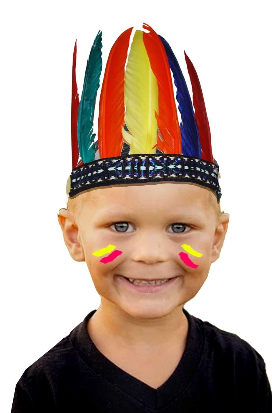 Piume da indiano carnevale bambino