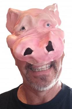 maschera di carnevale da maiale adulto