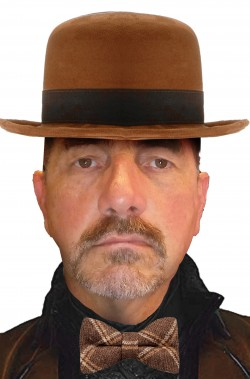Cappello da uomo a bombetta elegante marrone british