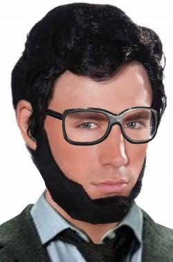Parrucca e barba uomo nera...