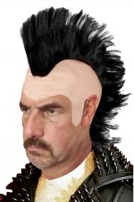 Parrucca punk anni 80 con cresta e pelata