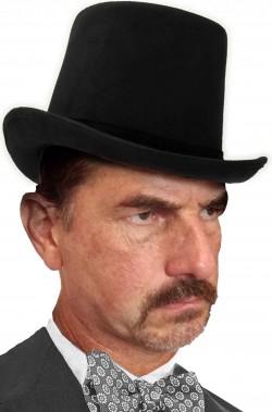 cappello a cilindro nero vero scamosciato
