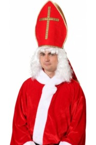 Cappello vescovo cardinale o diacono adulto