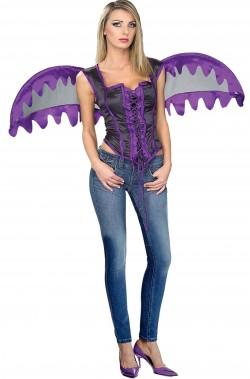 Set costume halloween donna da angelo viola