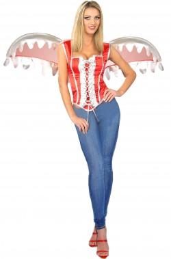 Set vestito Halloween fai da te diavolessa rossa