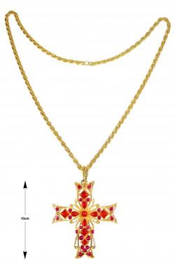 Collana con croce grande per papa cardinale vescovo