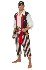 Vestito di carnevale da Pirata Uomo bucaniere