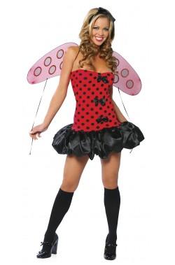 Costume donna Coccinella con ali