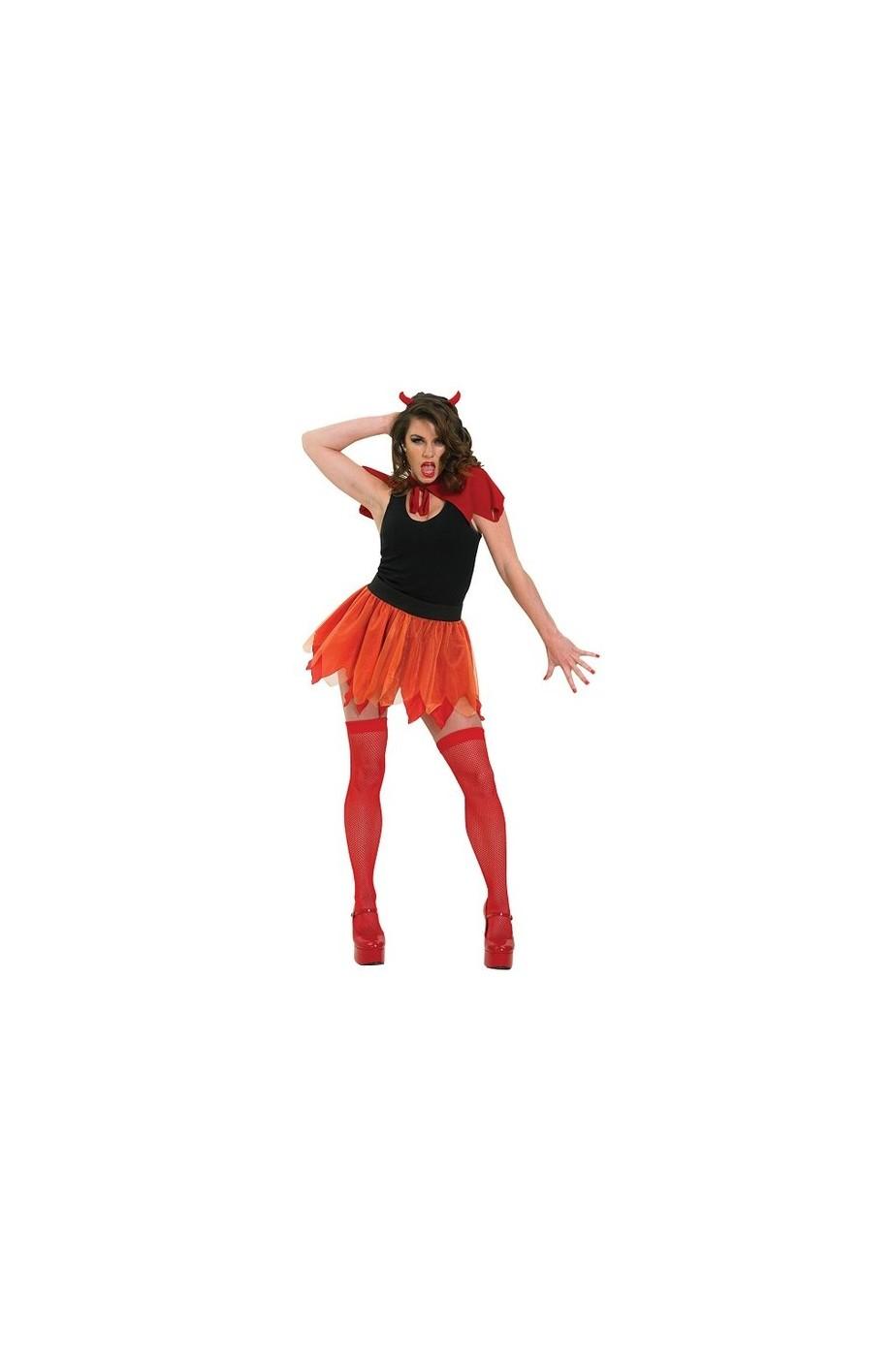 Set Diavolo Diavolessa Mantello e Corna Halloween Carnevale Unisex Uomo Donna