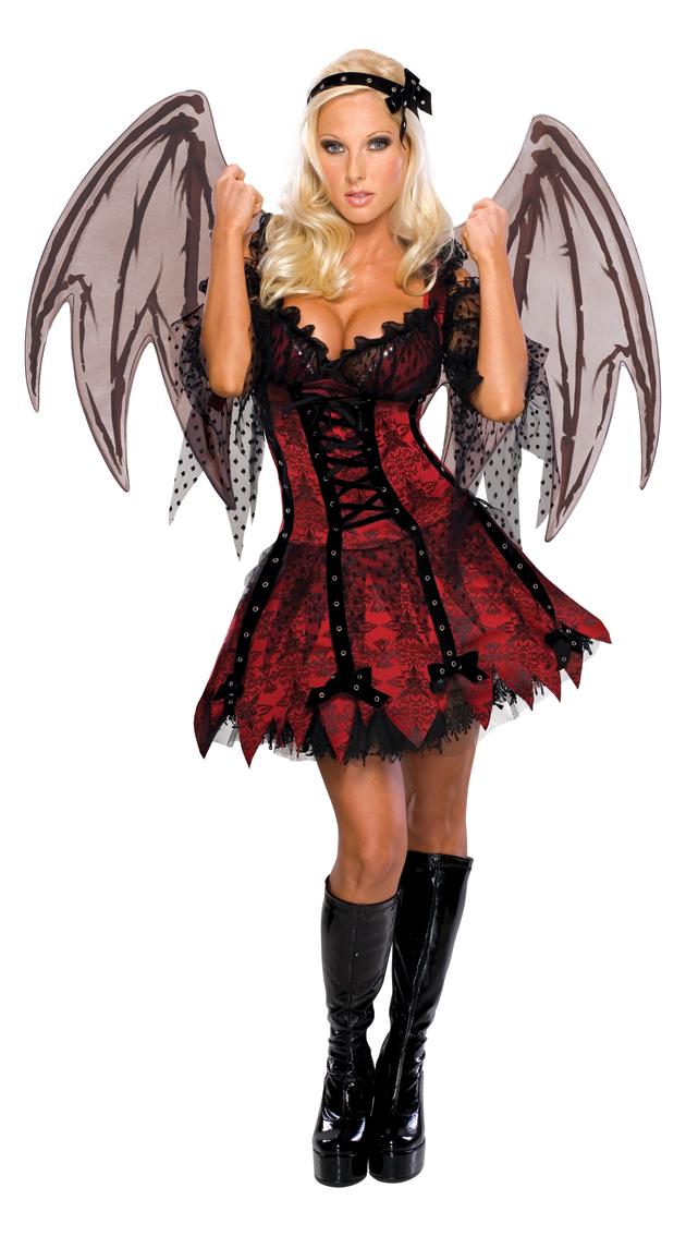 Vestiti Halloween.Costume Vampira Degli Inferi Con Ali Donna Carnivalhalloween Com
