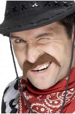 Baffi finti a ferro di cavallo da messicano cowboy