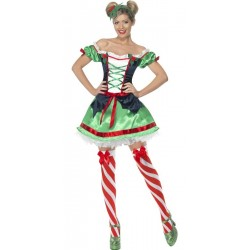 Costume abito elfo Ramo Di Vischio