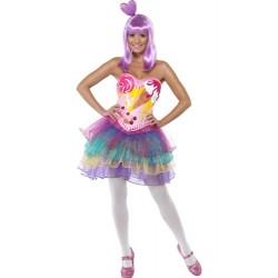 Costume di carnevale Candy Queen, la regina dei dolci