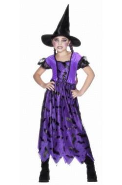 Costume carnevale Bambina Strega dei Pipistrelli