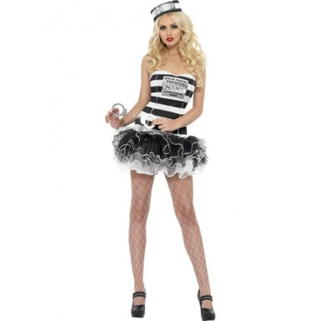 Costume donna sexy detenuta con gonna a tutu'