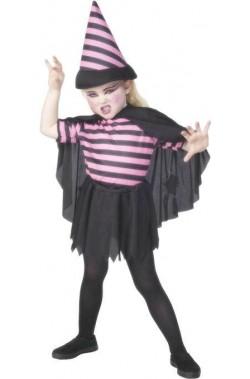 Costume carnevale Bambina Strega a righe