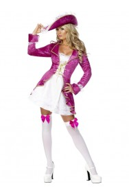 Costume donna piratessa sexy Oscar Lady rosa