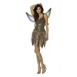 Costume donna sexy elfa della foresta verde