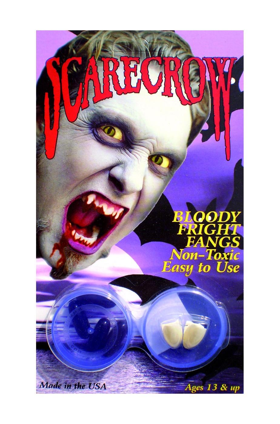 Denti canini Vampiro alta qualita' Scarecrow