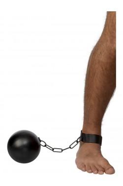 Palla al piede detenuto o carcerato  nera