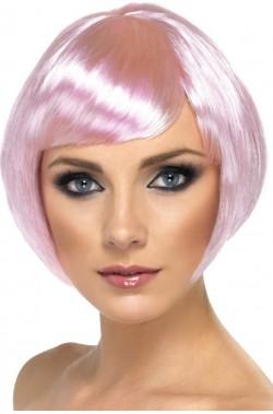 Parrucca donna rosa tenue...