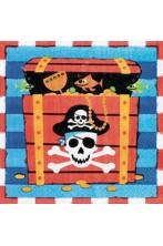 Pirata Party Isola del Tesoro tovaglioli di carta confezione da 16 33x33cm