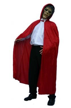Mantello rosso con cappuccio