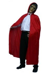 Mantello rosso adulto con cappuccio