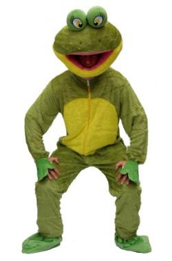 Costume uomo Rana Lusso per Kermit dei Muppet