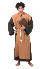 Costume o saio monaco, frate medievale, San Giuseppe con cappa