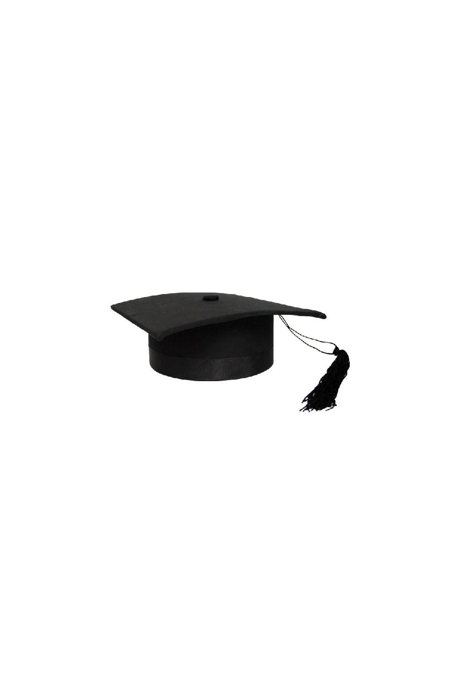 Cappello laureato tocco de luxe nero rigido molto bello ef6b289bf073