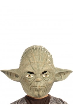 Star Wars maschera yoda adulto in vinile 3/4 con elastico